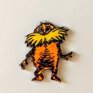 Lorax Laser Etched Wooden Pin NWT